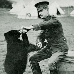 Black Bear Harry Colebourne and Winnie